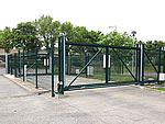 Secure data centre gates