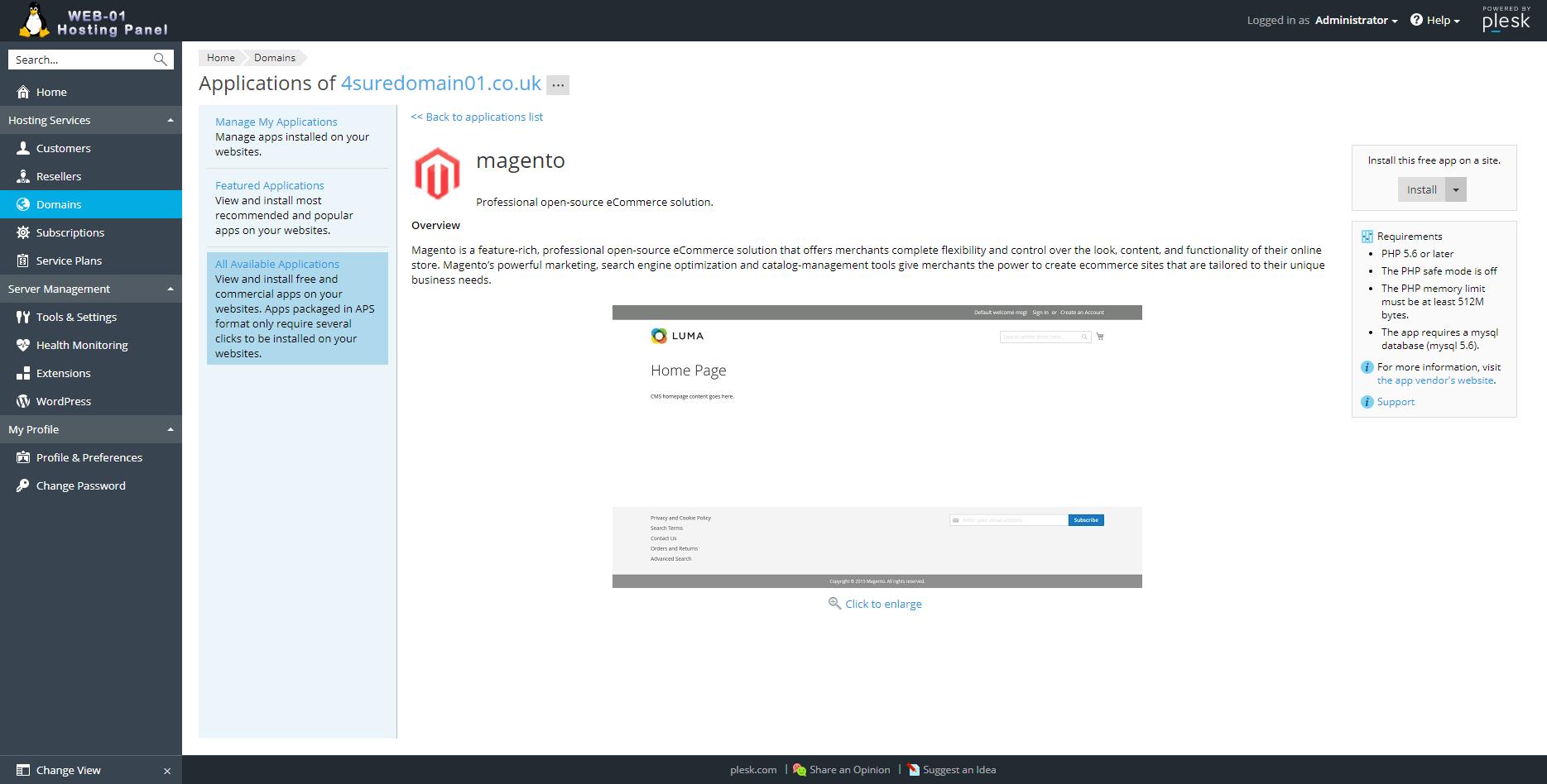 Host it™ Magento Hosting   PCI Compliant   Auto Install