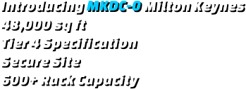 MKDC-0 40,000 sq ft, Tier 4, Secure Site, 600+ Rack Capacity